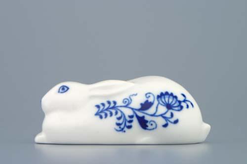 Zwiebelmuster Hase 10cm Original Bohemia Porzellan aus Dubi