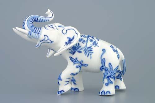 Zwiebelmuster Elefant II 18cm Original Bohemia Porzellan aus Dubi