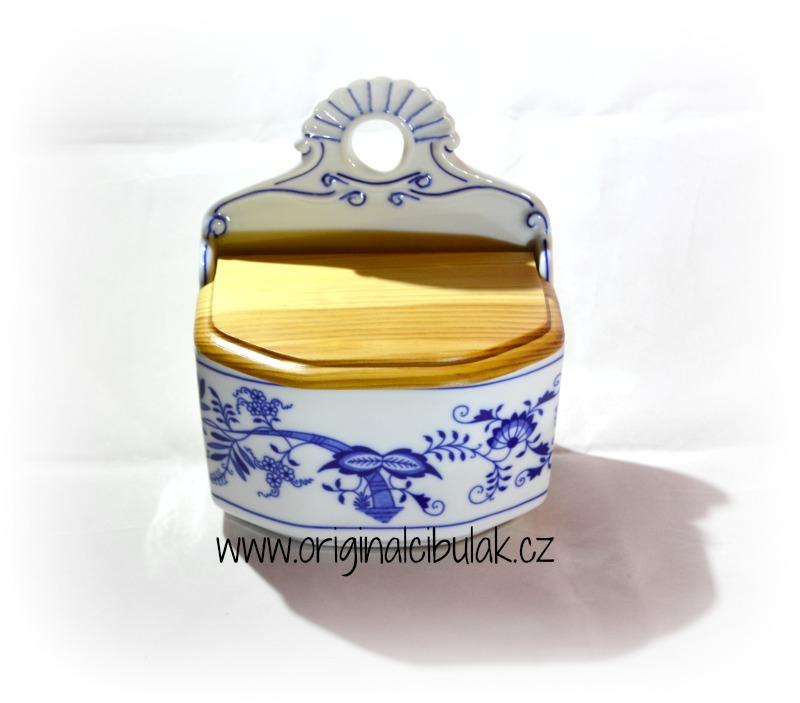 Zwiebelmuster Salzmetze mit Anschrift nach Spezifikation 0,70L Saltz, Zucker, oder ohne Anschrift Original Bohemia Porzellan aus Dubi