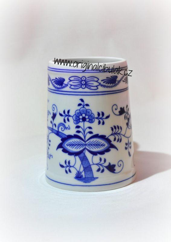 Zwiebelmuster Bierkrug 0,50L Original Bohemia Porzellan aus Dubi