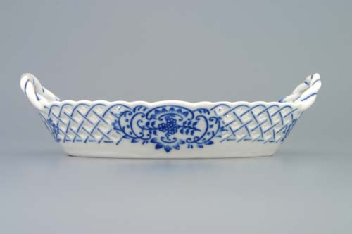 Zwiebelmuster Körbchen durchbrochen 19cm Original Bohemia Porzellan aus Dubi