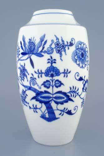 Zwiebelmuster Vase 1211 27cm Original Bohemia Porzellan aus Dubi