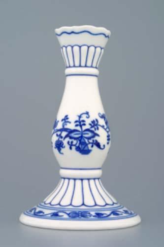 Zwiebelmuster Kerzenleuchter 1969 16cm Original Bohemia Porzellan aus Dubi