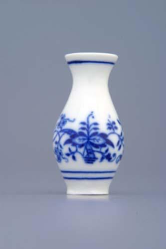 Zwiebelmuster Vase 1210 mini 6cm Original Bohemia Porzellan aus Dubi