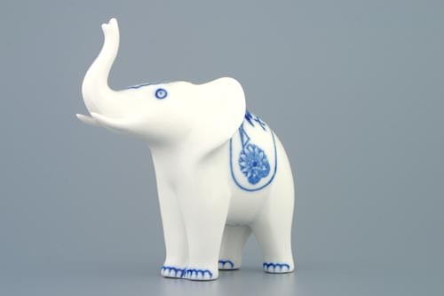 Zwiebelmuster Elefant I 12cm Original Bohemia Porzellan aus Dubi