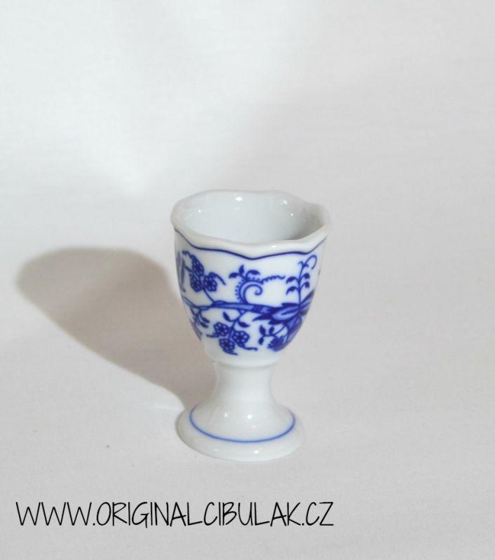 Zwiebelmuster Eierbecher ohne Standfuss 7,5 cm Original Bohemia Porzellan aus Dubi