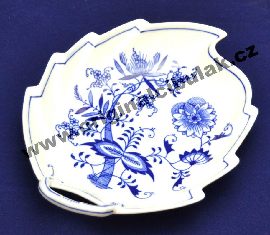 Zwiebelmuster Schüssel Blatt 22cm Original Bohemia Porzellan aus Dubi