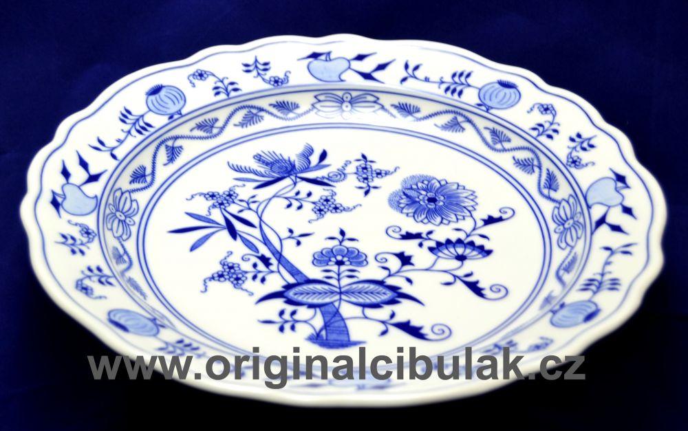 Zwiebelmuster Schale rund tief 28cm Original Bohemia Porzellan aus Dubi