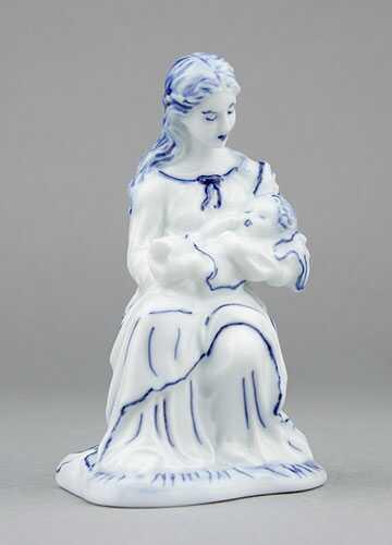 Zwiebelmuster heilige Maria 12cm Original Bohemia Porzellan aus Dubi