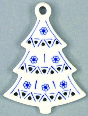 Zwiebelmuster Weihnachtsbaum 8,5cm Original Bohemia Porzellan aus Dubi