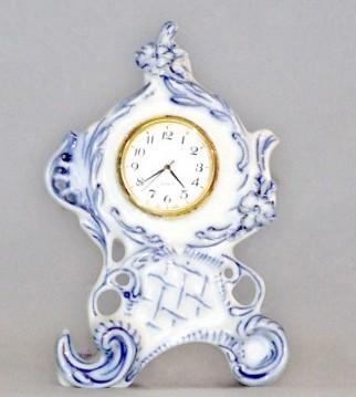 Zwiebelmuster Uhr 12,6cm Original Bohemia Porzellan aus Dubi