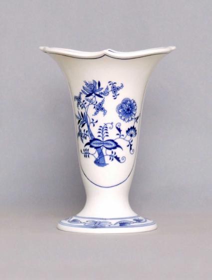 Zwiebelmuster Vase 505/3 20cm Original Bohemia Porzellan aus Dubi