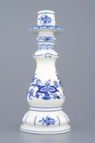 Zwiebelmuster Kerzenleuchter 1982 21,5cm Original Bohemia Porzellan aus Dubi