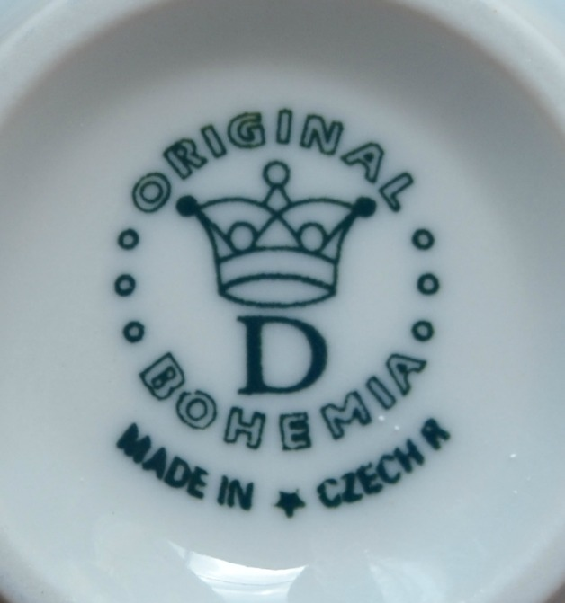 Aktion - 50% Zwiebelmuster Teetasse niedrig C/1 mit Untertasse ZC/1 0,20L + 15,5cm Original Bohemia Porzellan aus Dubi