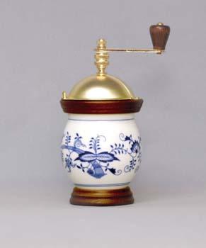 Zwiebelmuster Kaffeemühle Banak 20cm Original Bohemia Porzellan aus Dubi
