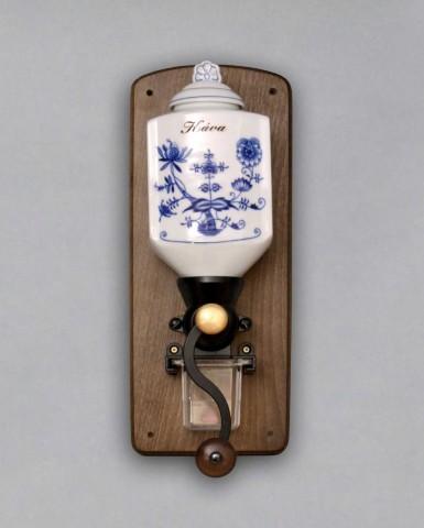 Zwiebelmuster Wandhängend Kaffeemühle 35cm Original Bohemia Porzellan aus Dubi