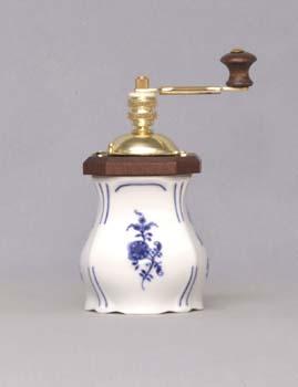 Zwiebelmuster Kleine Gewürzmühle Aneta 15,5cm Original Bohemia Porzellan aus Dubi