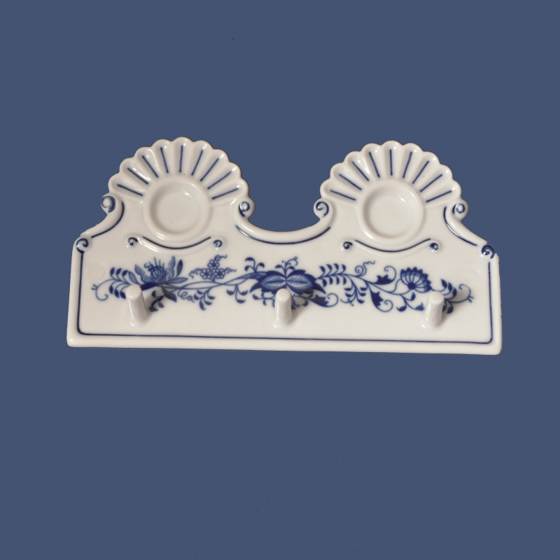 Zwiebelmuster Küche Kleiderbügel 18cm Original Bohemia Porzellan aus Dubi
