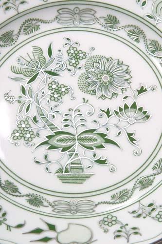 Zwiebelmuster Teller dessert 19 cm zwiebelmuster grün Bohemia Porzellan aus Dubi
