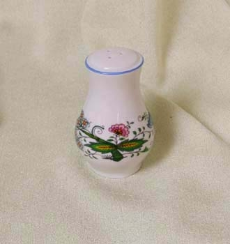 Zwiebelmuster Pfefferdose mit Streuer ohne Anschrift 7,5cm Nature zwiebelmuster farbig Bohemia Porzellan aus Dubi