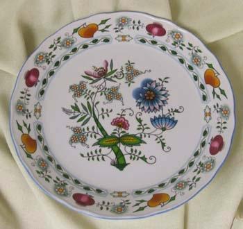 Zwiebelmuster Verein Platte 30cm Nature zwiebelmuster farbig Bohemia Porzellan aus Dubi