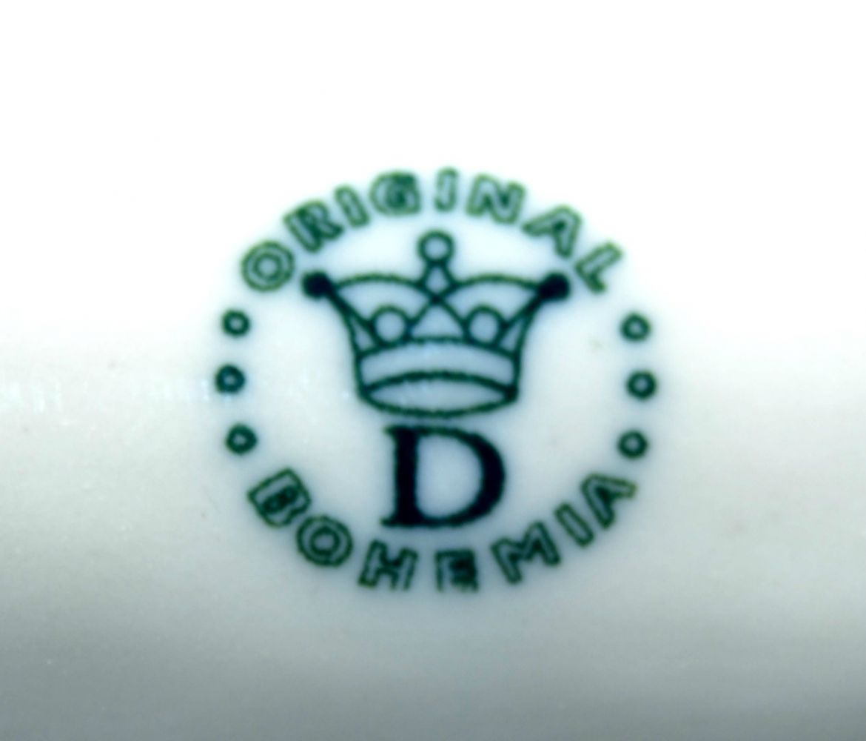 Zwiebelmuster Zwiebelmuster Clip auf Vorhang Z groser 12,5cm Original Bohemia Porzellan aus Dubi