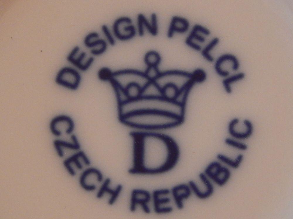 Zwiebelmuster Duo Untertasse Bohemia Cobalt design prof. arch. Jiří Pelcl, Bohemia Porcellan aus Dubi