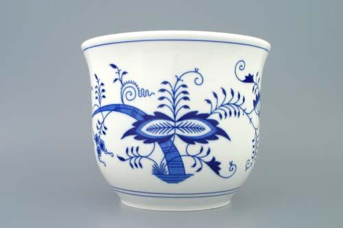 Zwiebelmuster Blumentopf ohne Henkel 18cm Original Bohemia Porzellan aus Dubi