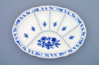 Zwiebelmuster Plate Smooth Parted, Original Bohemia Porcelain from Dubi