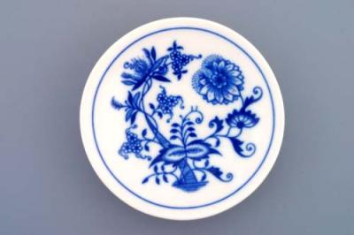Zwiebelmuster Smooth Dish 10cm, Original Bohemia Porcelain from Dubi