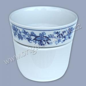 Zwiebelmuster Flower Pot Krasko, Original Bohemia Porcelain from Dubi