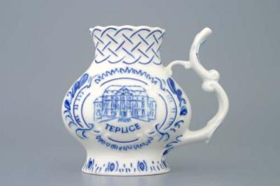 Zwiebelmuster Spa Cup with Relief , Original Bohemia Porcelain from Dubi