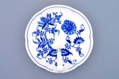 Zwiebelmuster Dish with Handle 17cm, Original Bohemia Porcelain from Dubi