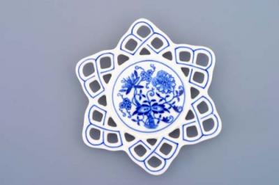 Zwiebelmuster Christmas decoration Snowflake, Original Bohemia Porcelain from Dubi
