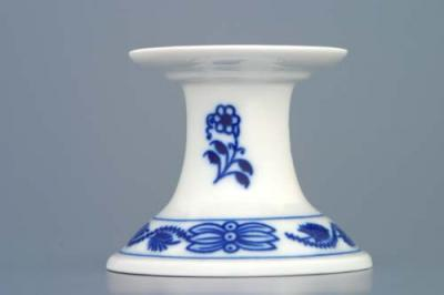 Zwiebelmuster Candle Holder 1991 6cm, Original Bohemia Porcelain from Dubi