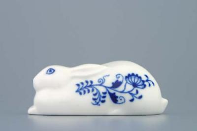 Zwiebelmuster Hare 10cm, Original Bohemia Porcelain from Dubi