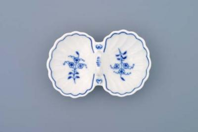 Zwiebelmuster Double Salt, Original Bohemia Porcelain from Dubi
