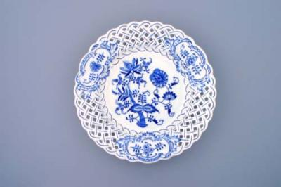 Zwiebelmuster Plate Perforated 27cm, Original Bohemia Porcelain from Dubi