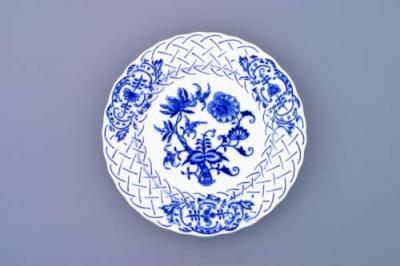 Zwiebelmuster Plate Embossed 15cm, Original Bohemia Porcelain from Dubi