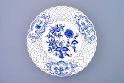 Zwiebelmuster Plate Embossed 27cm, Original Bohemia Porcelain from Dubi