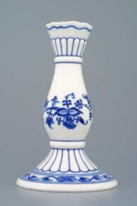 Zwiebelmuster Candle Holder 1969 16cm, Original Bohemia Porcelain from Dubi