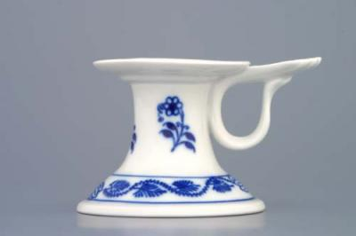 Zwiebelmuster Candle Holder 1991 with Handle, Original Bohemia Porcelain from Dubi