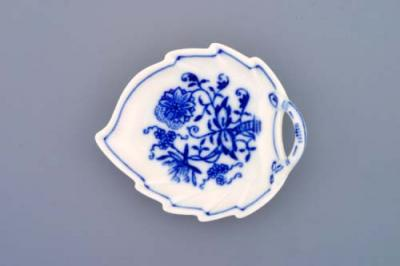 Zwiebelmuster Mini Leaf Dish 8cm, Original Bohemia Porcelain from Dubi