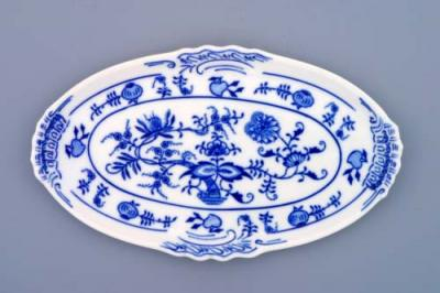 Zwiebelmuster Mini Oval Tray 20cm, Original Bohemia Porcelain from Dubi