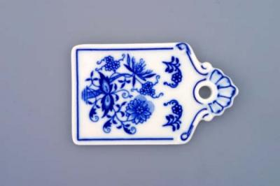 Zwiebelmuster Mini Bread Tray 9cm, Original Bohemia Porcelain from Dubi