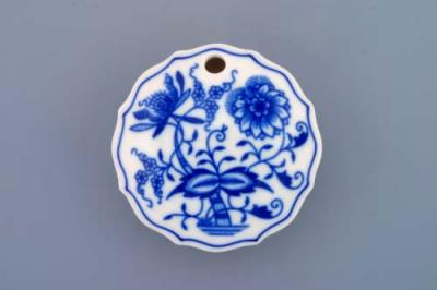 Zwiebelmuster Sweetner Container, Original Bohemia Porcelain from Dubi