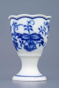 Zwiebelmuster Egg Cup, Original Bohemia Porcelain from Dubi