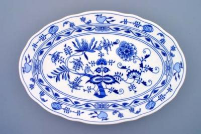 Zwiebelmuster Oval Dish 43cm, Original Bohemia Porcelain from Dubi