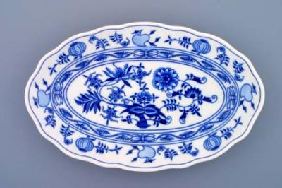 Zwiebelmuster Oval Dish 31cm, Original Bohemia Porcelain from Dubi