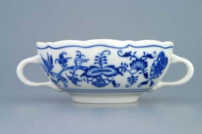 Zwiebelmuster Creamsoup Cup with Handles 0.30L, Original Bohemia Porcelain from Dubi